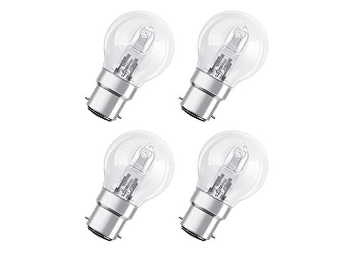 Osram B22d 30 Watt Halogen Globe Halogen Eco Bulb [Energy Class D] (Pack x4) - 1