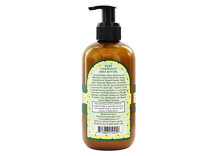 Out Of Africa - Organic Shea Butter Hand Lotion With Essential Oil Lemon Verbena - 8 oz. - 2