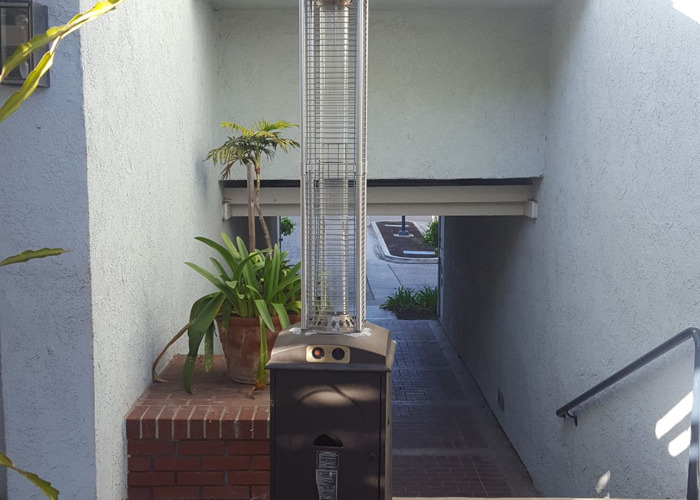 Outdoor patio heater. Nice heat flame looking.  Good for party - 1