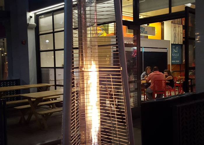 Outdoor patio heater. Nice heat flame looking.  Good for party - 2