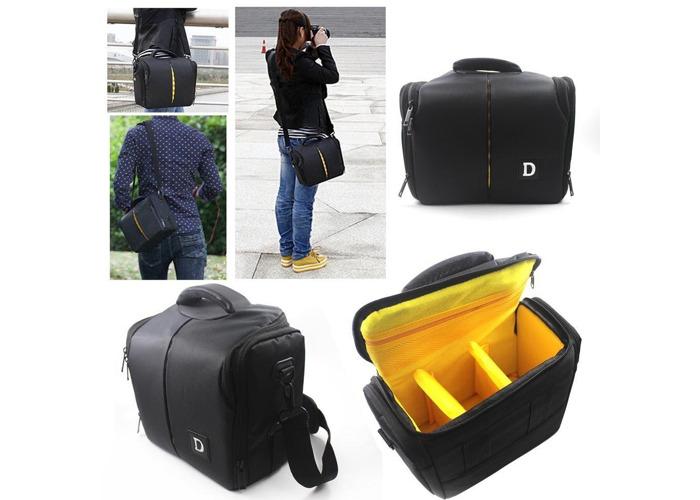 Outdoor Travel SLR Camera Storage Bag Shoulder Messenger Bag Crossbody Bag For Nikon D3200 D3100 - 1