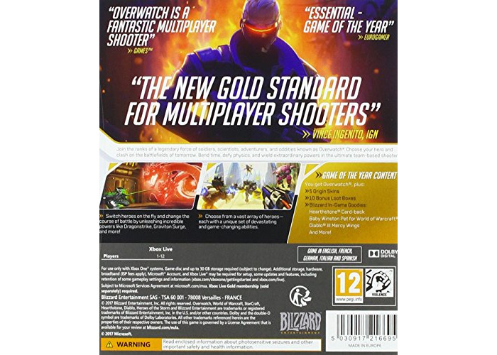 Overwatch Game of the Year Edition (Xbox One) [video game] - 2