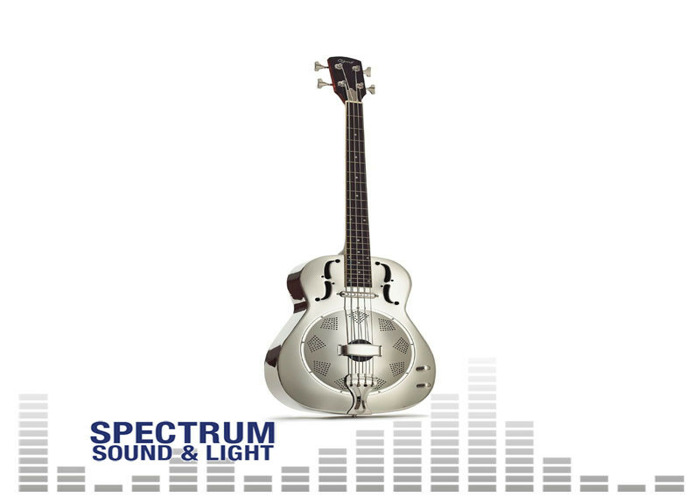 OZARK - Resonator Bass Nickel Plate - with Pickup [ST-3516] Instruments Folk Ins - 2