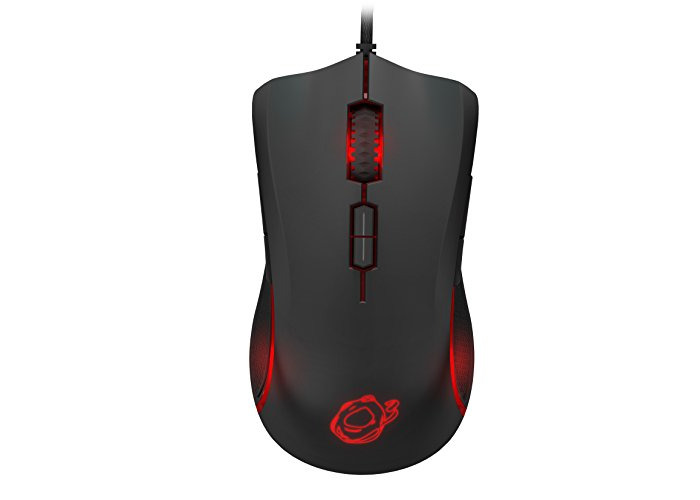 Ozone Argon Ocelote World Laser Ambidextrous Gaming Mouse - Black/Orange - 1