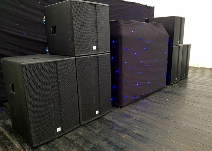 PA Speakers for up to 400 people - 2