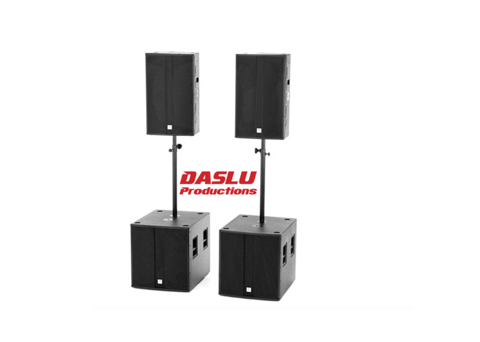 PA System - Package B - Speakers - Subs - Amp - 2