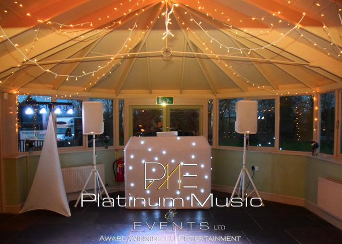 PA system - White set up - Mics - disco  - 1