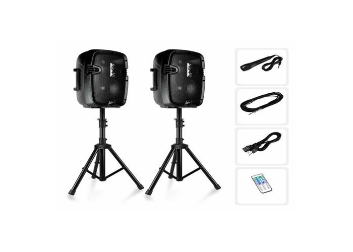 PA system (2 speakers, stands, microphone) - 1