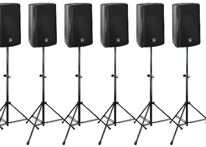 PA System (300 Guests): 4.5 kW speakers, Mixer, Microphone,  - 1