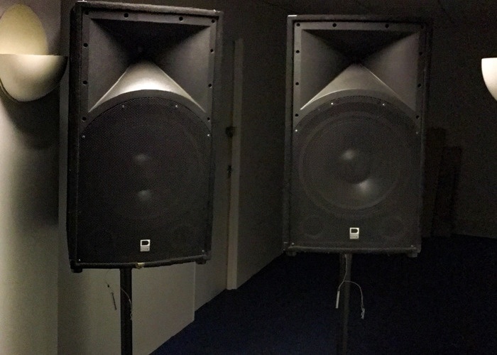 PA System including Amplifier and Leads - 1