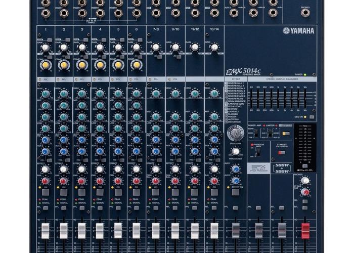 PA System (Yamaha EMX5014c Mixer + Yamaha 500w Speakers) - 1