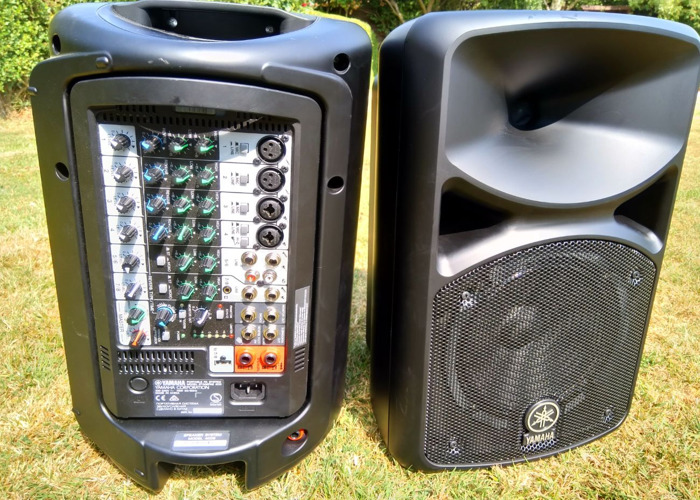 PA System, Yamaha Stagepas with mic and built in mixer.Stands inc. - 2