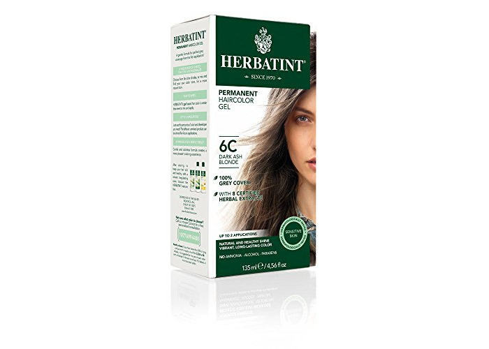 Pack of 1 x Herbatint Permanent Herbal Haircolour Gel 6C Dark Ash Blonde - 135 ml - 1