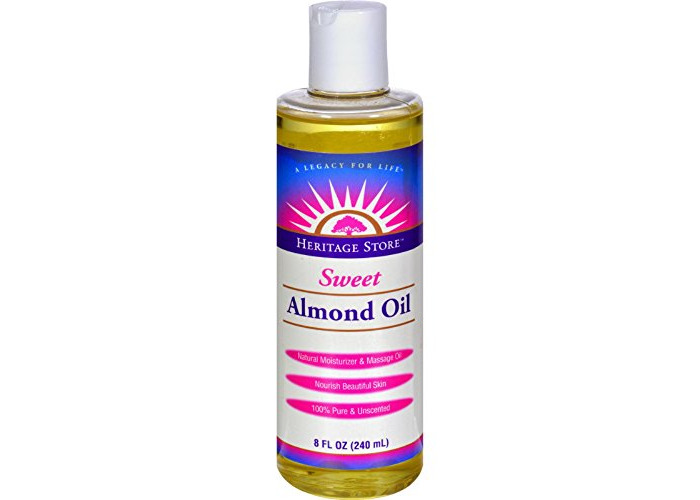 Pack of 1 x Heritage Products Sweet Almond Oil - 8 fl oz - 1