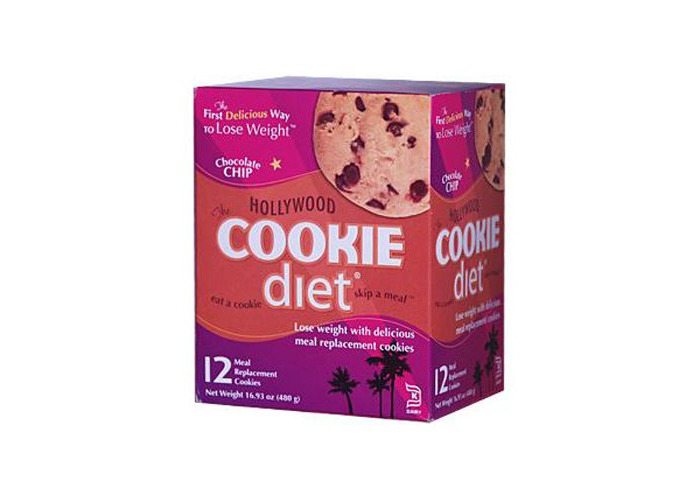 Pack of 1 x Hollywood Diet Miracle Products Cookie Diet Meal Replacement Cookie Chocolate Chip - 12 Cookies - 2