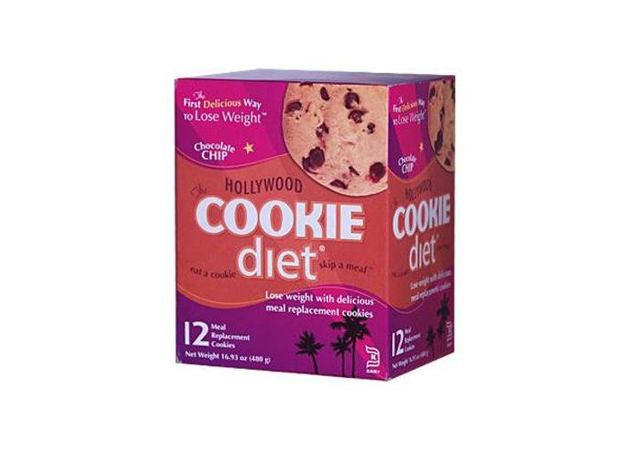 Pack of 1 x Hollywood Diet Miracle Products Cookie Diet Meal Replacement Cookie Chocolate Chip - 12 Cookies - 1