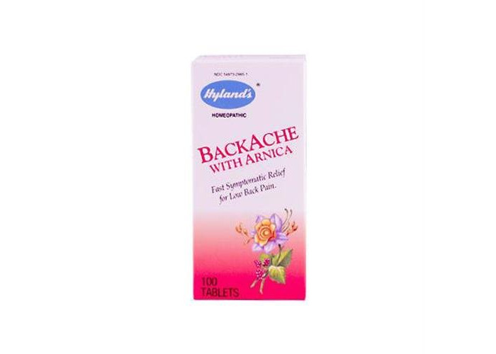 Pack of 1 x Hyland's Backache With Arnica - 100 Tablets - 1