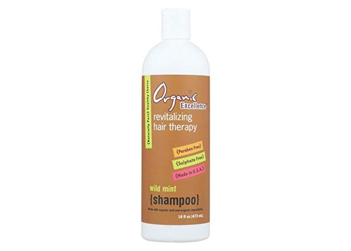 Pack of 1 x Organic Excellence Wild Mint Shampoo - 16 oz - 1