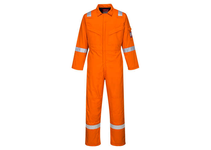 Padded Antistatic Coverall  Orange  XL  R - 1