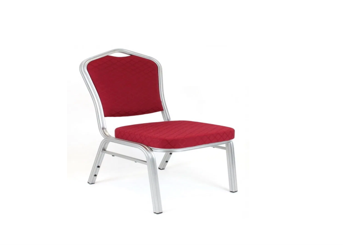 Padded Black or Red Banqueting Chair - 1