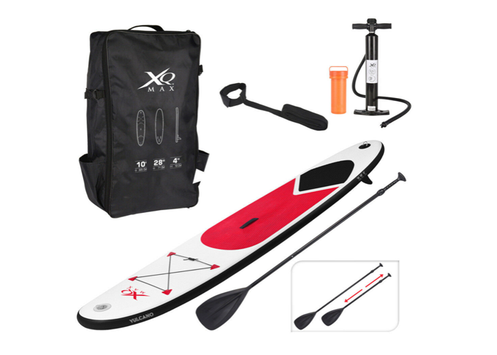 Brand New 10ft Paddle Board Red Sports Surf Inflatable Stand Up SUP - 1