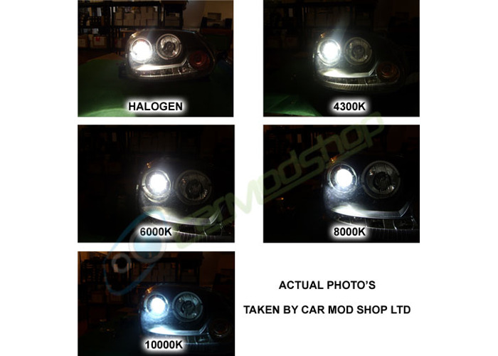 PAIR OF 100W REPLACEMENT H7 XENON HID BULBS - 2