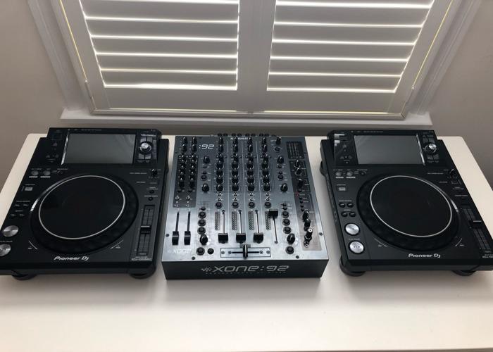 Pair of XDJ-1000 mk2 + allen and heath xone 92 - 1