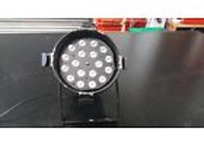 Pair Showtec PAR 64 LED long nose RGB par can 18x3W DMX - 1