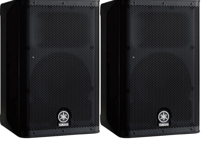"Pair Yamaha DXR 10 1100W 10"" Active Speakers - 1"