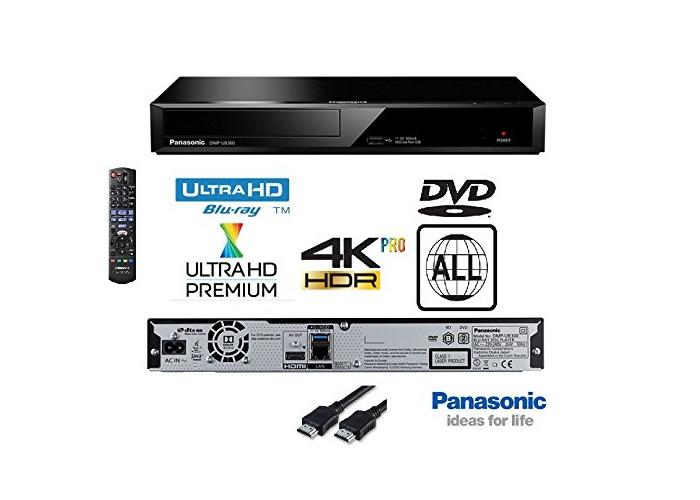 Panasonic DMP-UB320 4K Ultra HD Blu-Ray Player With Multiregion DVD playback Model - Black - 1