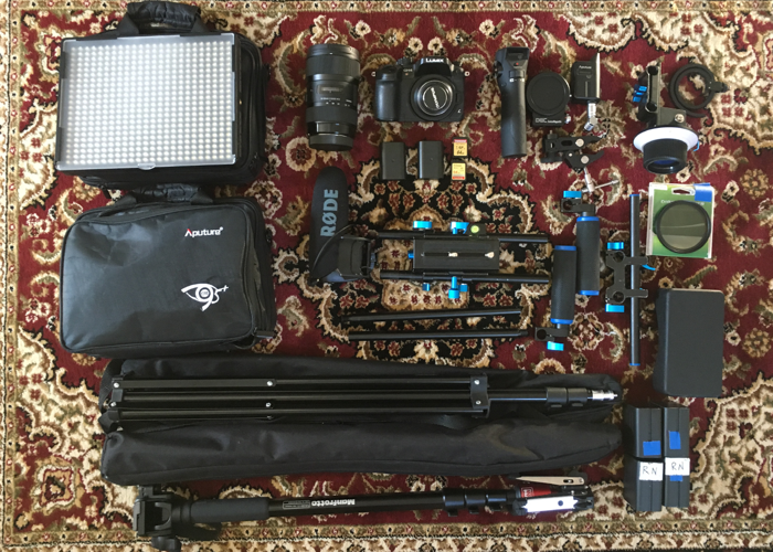 Panasonic GH4 filming and lighting kit with remote FF - 1
