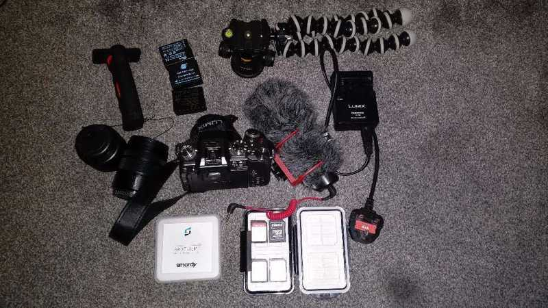 Panasonic Lumix G7 Camera with 3 Lenses, Mics and Tripod - 2