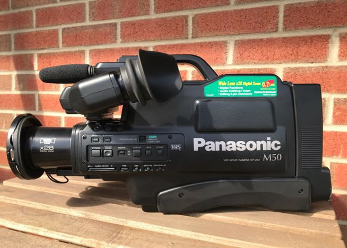 PANASONIC M50 VHS CAMCORDER / CAMERA WITH 2 x BATTERY + INCLUDES FREE VHS TAPE - 1