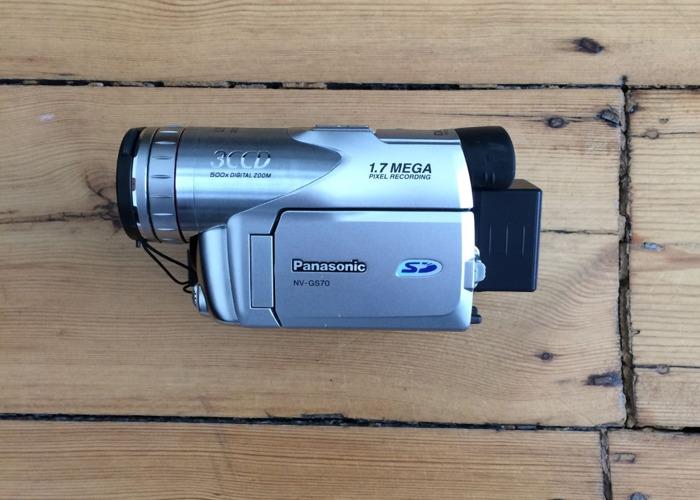 PANASONIC NV-GS70 Mini DV Camcorder w/ FireWire/Thunderbolt - 1