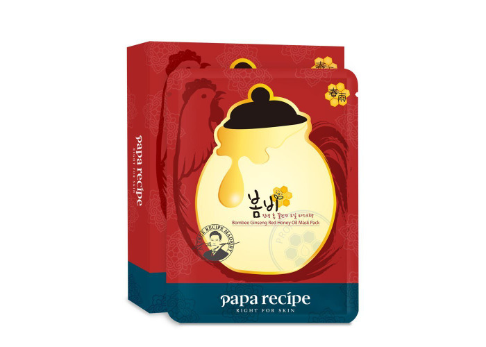 Paparecipe Bombee Ginseng Red Honey Oil Mask 10pc - 2