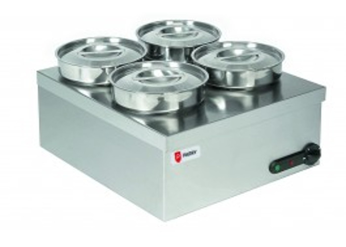 Parry 3015 wet 4 pot electric bain marie - 1