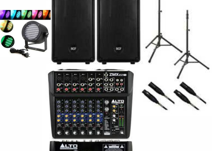 Party Pack 12 Ch Mixer 2 X 400w Speakers Rgb Lights In London