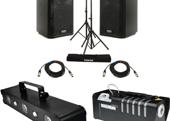 Party Package! PA Speakers, Lasers, Lights & Smoke Machine - 1