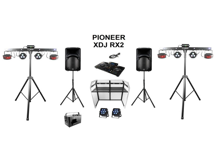 Party speakers, lights, smoke machine and pioneer xdj rx2 - 1