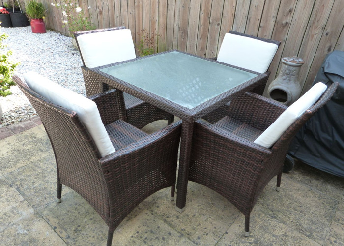 Patio table and 4 chairs - 1