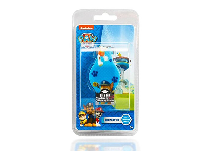 PAW PATROL LED FUN CHARACTER WATCH LIGHT UP KIDS OFFICIAL NICKELODEON (BLUE) - 1