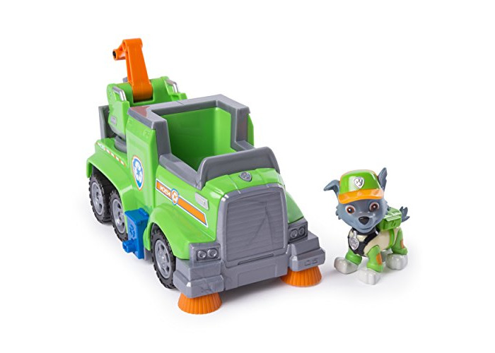 PAW Patrol Ultimate Rescue — Rocky's Ultimate Rescue Recycling Truck with Moving Crane and Flip-open Ramp, for Ages 3 and Up - 1