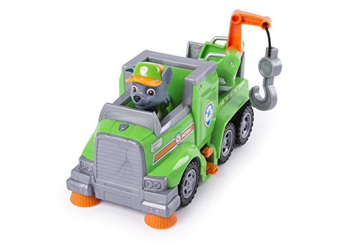 PAW Patrol Ultimate Rescue — Rocky's Ultimate Rescue Recycling Truck with Moving Crane and Flip-open Ramp, for Ages 3 and Up - 2