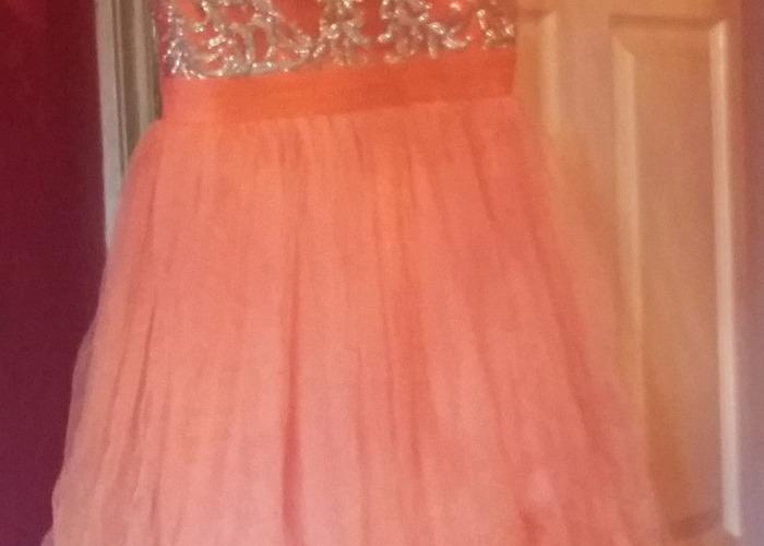 Peach quiz dress  - 1