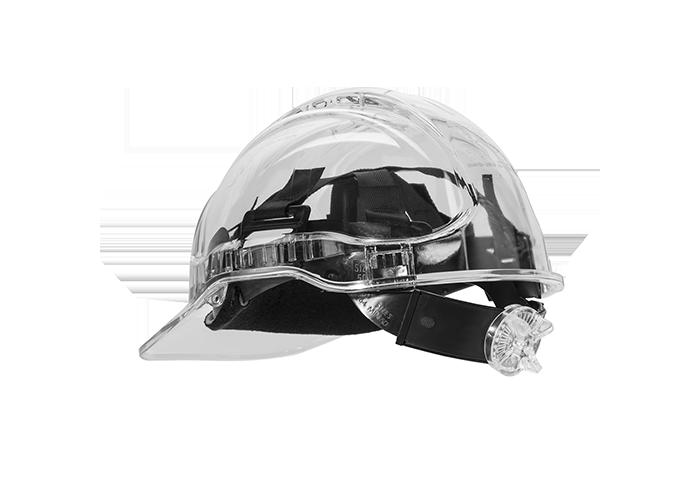 Peak View Ratchet Vent Helmet  Clear    R - 1