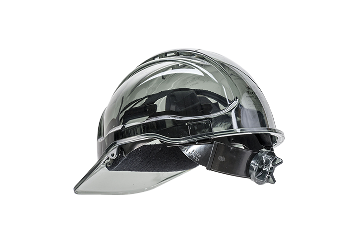 Peak View Ratchet Vent Helmet  Smoke    R - 1