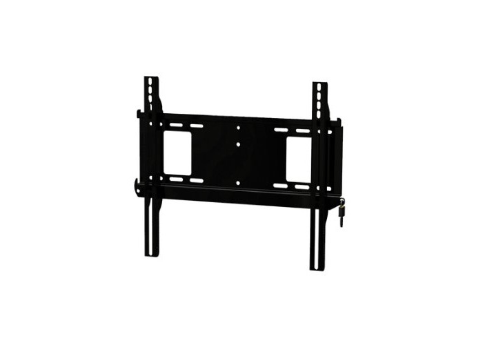 Peerless Flat-to-Wall Security Locking Mount for 32 - 60-Inch Display - Black - 1