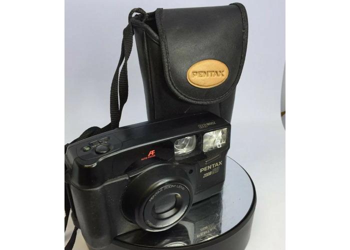 Pentax Zoom 90 38-90mm Zoom AF Compact 35mm Camera Cased TESTED #432 - 1