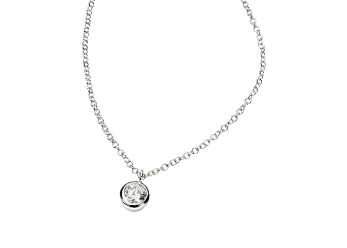 Persona Clear Cubic Zirconia Necklace - 1