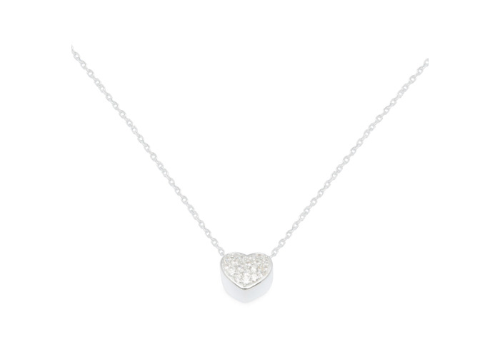 Persona Clear CZ Heart Necklace - 1